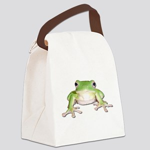green tree frog Canvas Lunch Bag