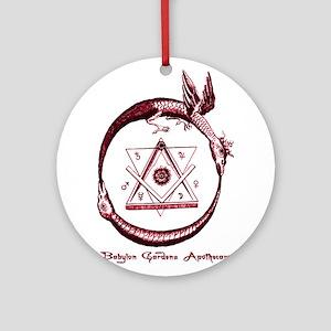 Alchemical Ouroboros Ornament (Round)