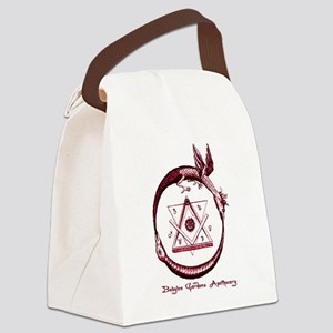 Alchemical Ouroboros Canvas Lunch Bag