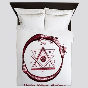 Alchemical Ouroboros Queen Duvet