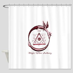 Alchemical Ouroboros Shower Curtain