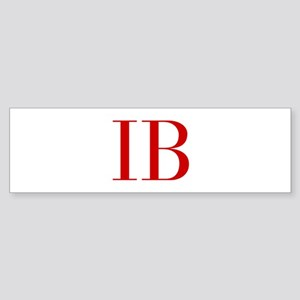 IB-bod red2 Bumper Sticker
