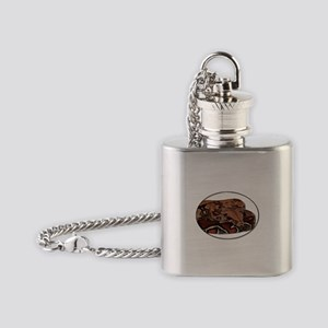 red tail boa Flask Necklace