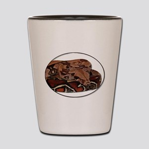red tail boa Shot Glass