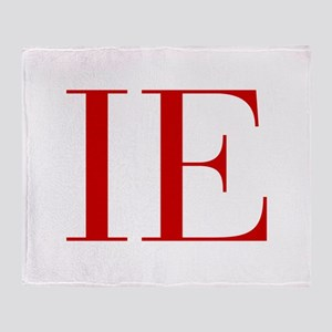 IE-bod red2 Throw Blanket