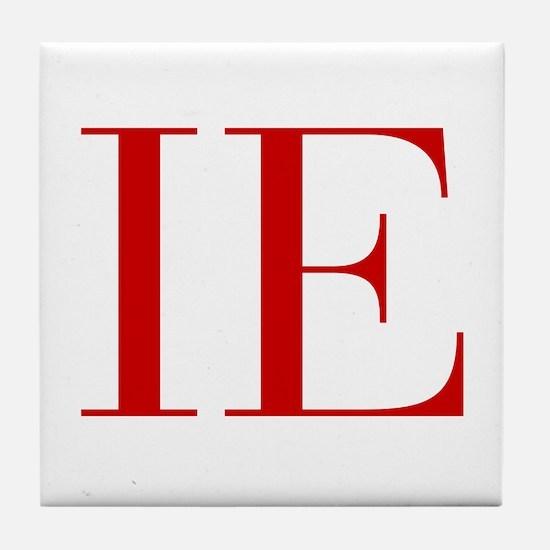 IE-bod red2 Tile Coaster