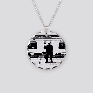 Train Necklace Circle Charm