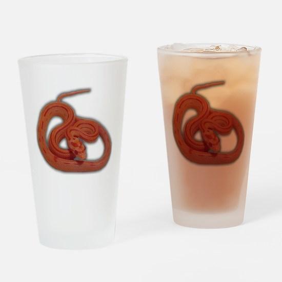 albino corn snake Drinking Glass