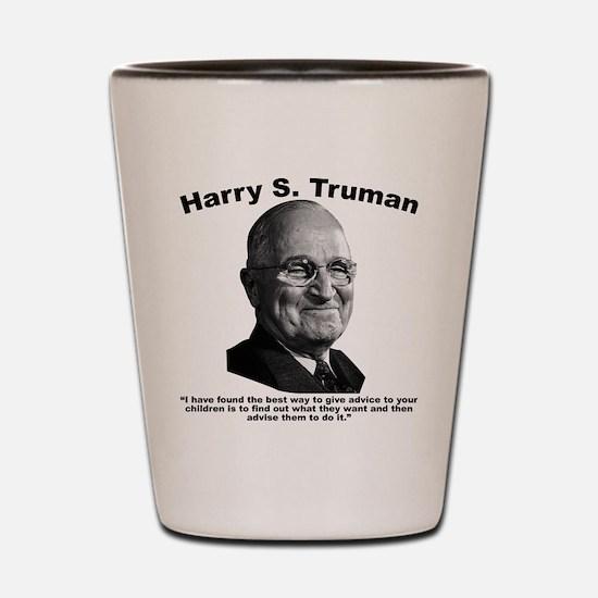 Truman: Advice Shot Glass