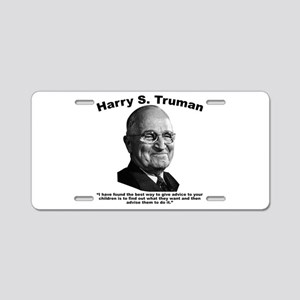 Truman: Advice Aluminum License Plate