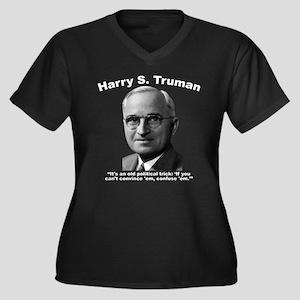 Truman: Tric Women's Plus Size V-Neck Dark T-Shirt