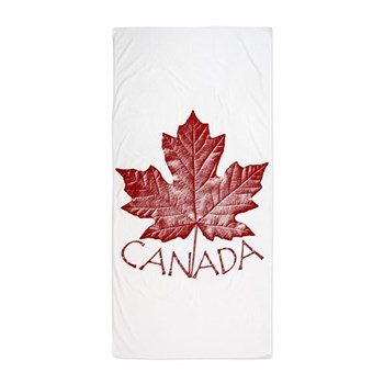 Canada Souvenir Beach Towel Canada Maple Leaf Gift