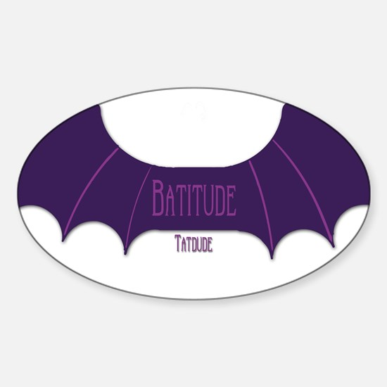 Batitude Oval Decal
