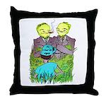 I Fear No Weeds Throw Pillow