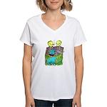 I Fear No Weeds Women's V-Neck T-Shirt