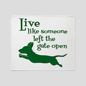 OPEN GATE! Throw Blanket