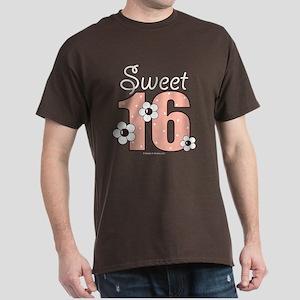 Sweet 16 Sixteenth Birthday Pink Brown T-Shirt