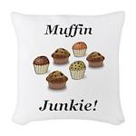 Muffin Junkie Woven Throw Pillow