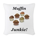 Muffin Junkie Woven Throw Pillow