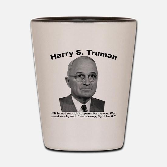 Truman: Peace Shot Glass