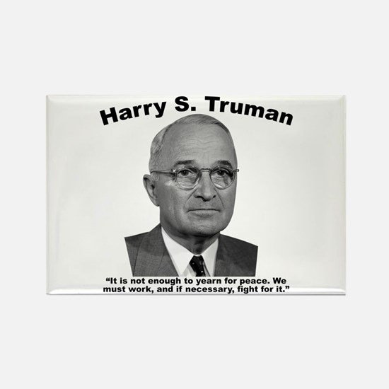 Truman: Peace Rectangle Magnet