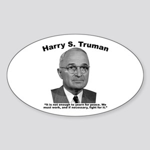 Truman: Peace Sticker (Oval)