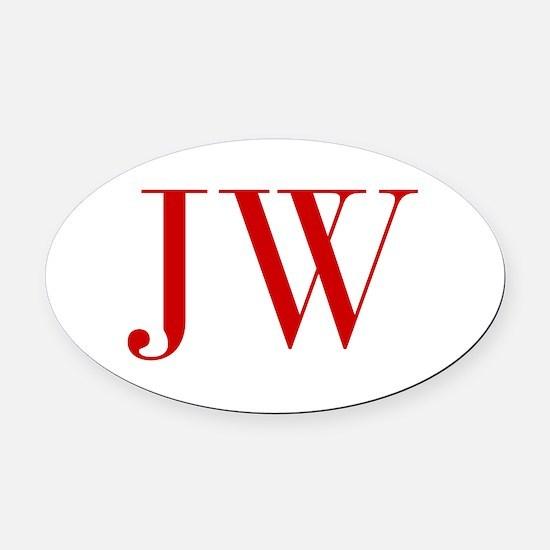 JW-bod red2 Oval Car Magnet