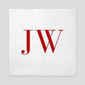 JW-bod red2 Queen Duvet