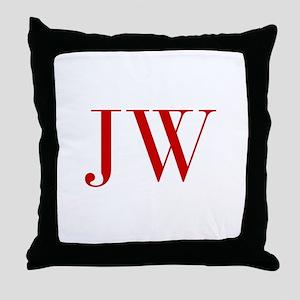 JW-bod red2 Throw Pillow