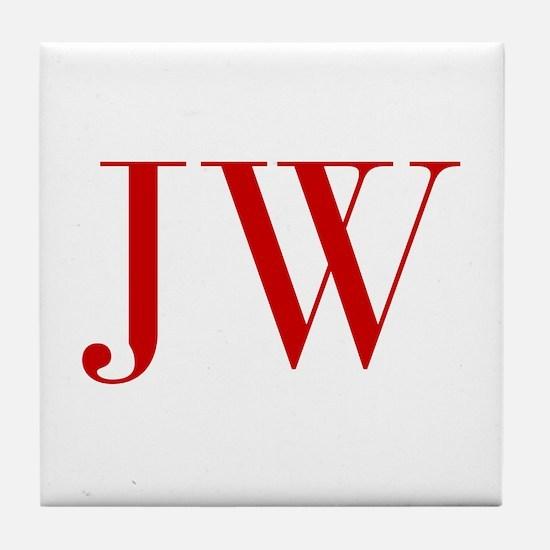 JW-bod red2 Tile Coaster