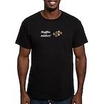 Muffin Addict Men's Fitted T-Shirt (dark)