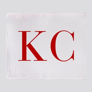 KC-bod red2 Throw Blanket