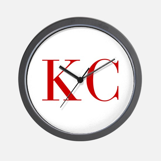 KC-bod red2 Wall Clock
