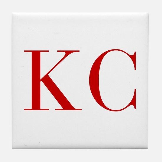 KC-bod red2 Tile Coaster
