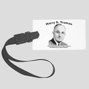 Truman: History Large Luggage Tag