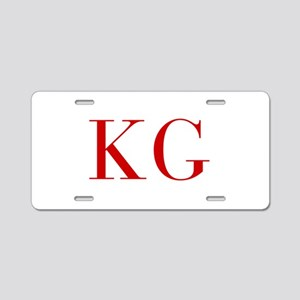 KG-bod red2 Aluminum License Plate