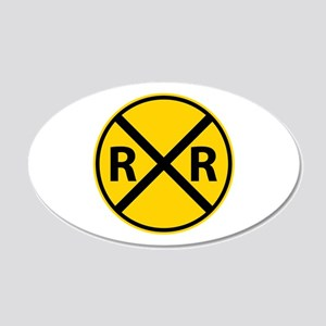 Railroad Crossing Wall Decal