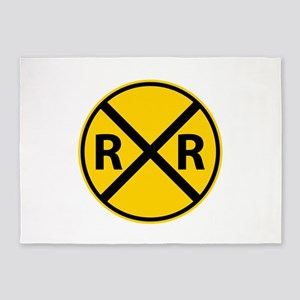 Railroad Crossing 5'x7'Area Rug