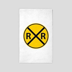 Railroad Crossing Area Rug