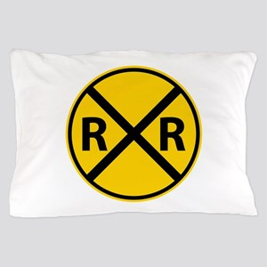 Railroad Crossing Pillow Case