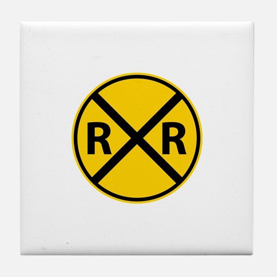 Railroad Crossing Tile Coaster