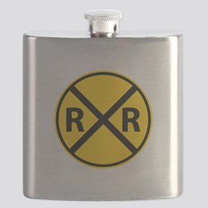 Railroad Crossing Flask