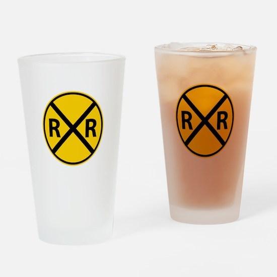 Railroad Crossing Drinking Glass