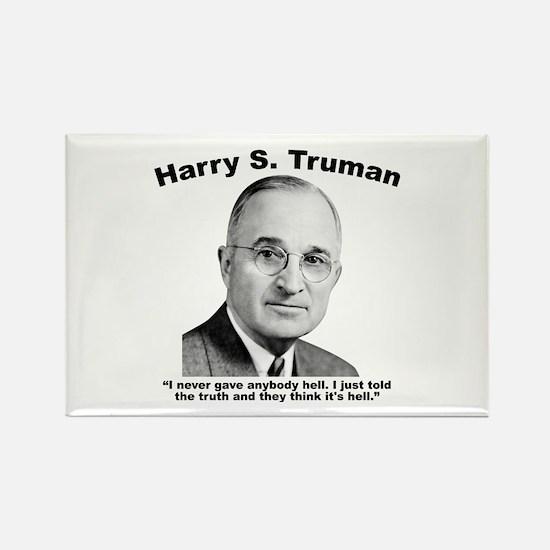 Truman: Hell Rectangle Magnet