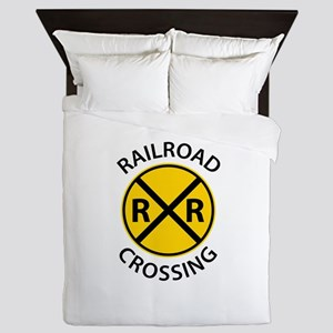 Railroad Crossing Queen Duvet