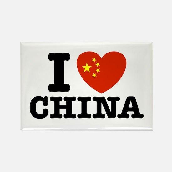 I Love China Rectangle Magnet