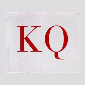 KQ-bod red2 Throw Blanket