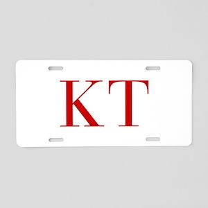 KT-bod red2 Aluminum License Plate