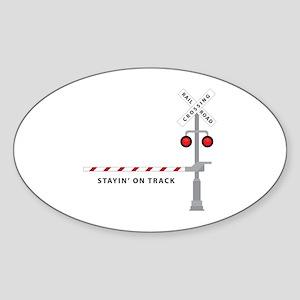 Stayin' On Track Sticker
