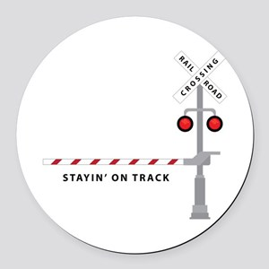 Stayin' On Track Round Car Magnet